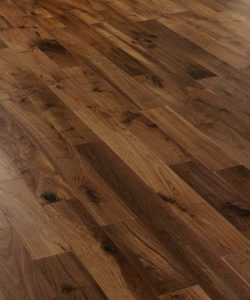 Black American engineered walnut flooring