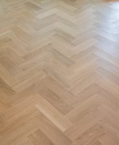Solid oak Herringbone wood blocks - London stock - 70mm x 22mm x 230mm