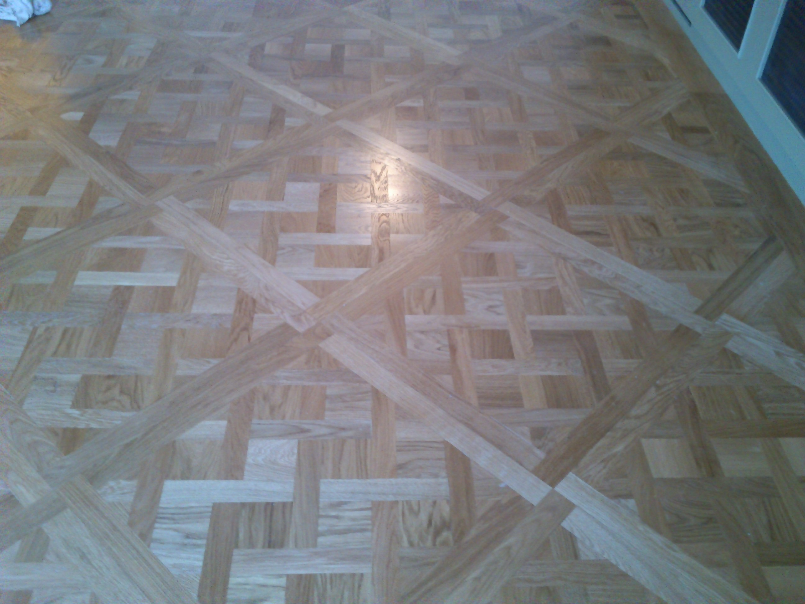 Large Traditional Oak Parquet Versailles Panel Brushed