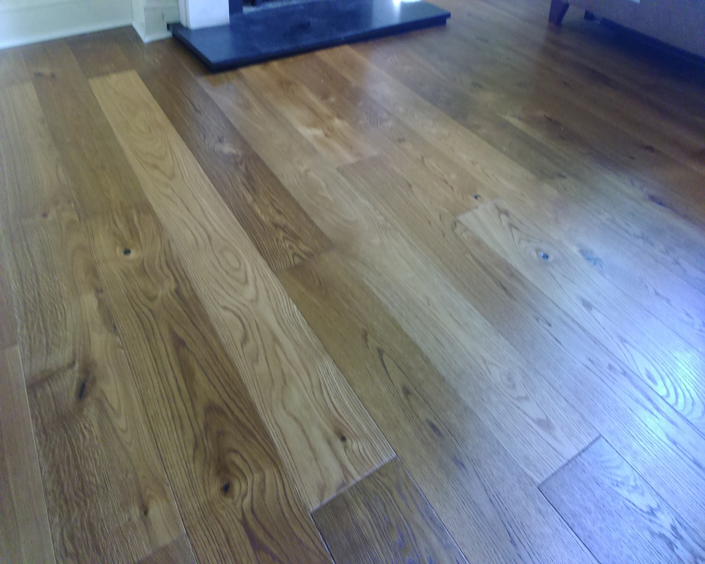 Extra rustic smoked engineered real wood floor click sytem for Click hardwood flooring
