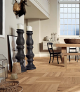 Basketweave Parquet flooring panels engineered natural oak brushed-and-oiled