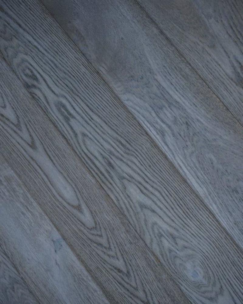 Blue Steel Oak Wood Floor Brushed Amp Lye Finished Wood4floors