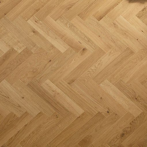 Solid oak Herringbone wood blocks