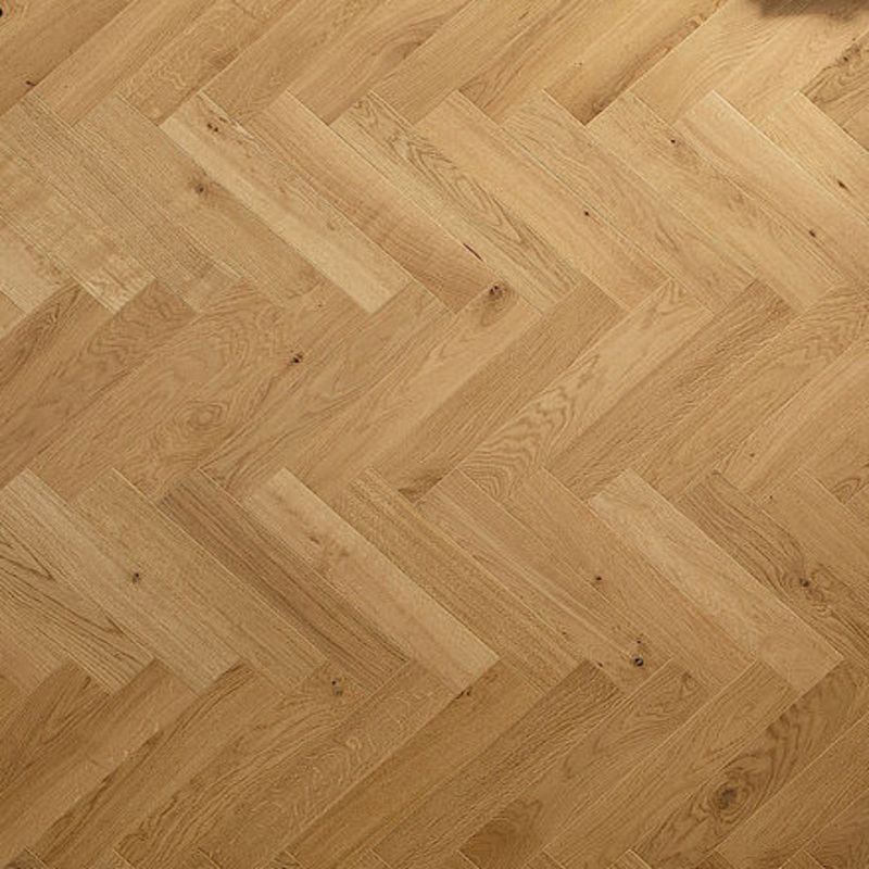 Solid Oak Herringbone Wood Blocks London Stock 70mm X