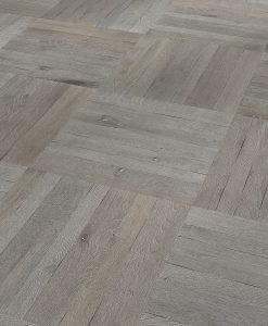 Basketweave Parquet flooring panels engineered Silver Grey oak brushed-and-oiled.Parquet flooring Parquet panels