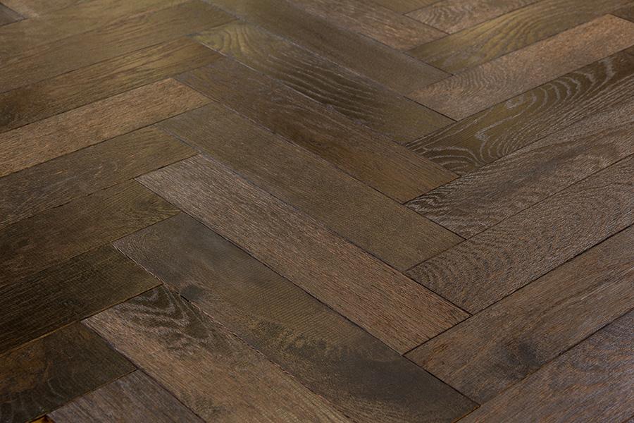 Herringbone Selection Of Engineered Oak Wood Blocks