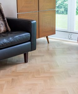 Herringbone selection of Engineered oak wood blocks