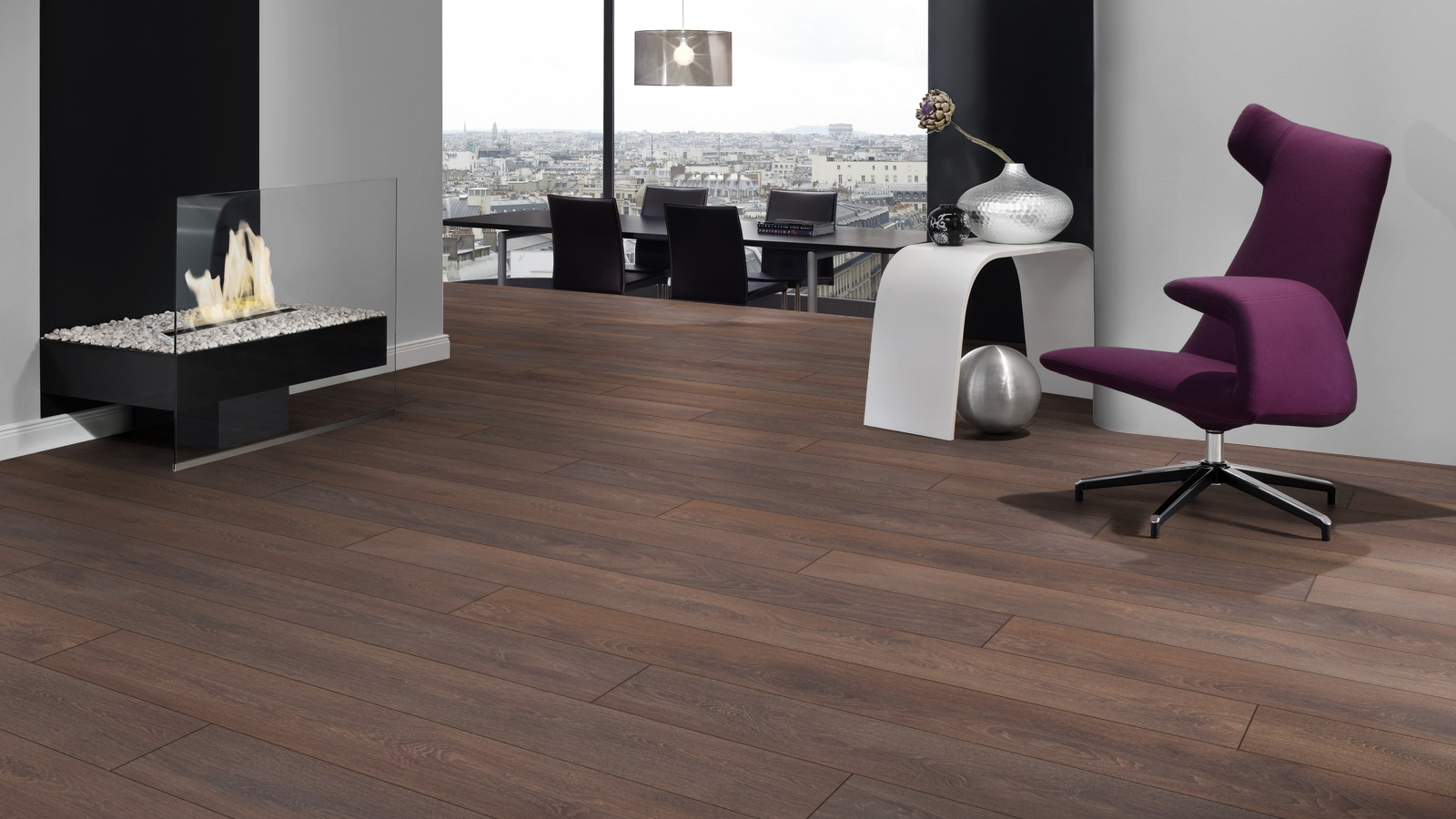 Black american walnut laminate floor london stock 193mm for Laminate flooring london