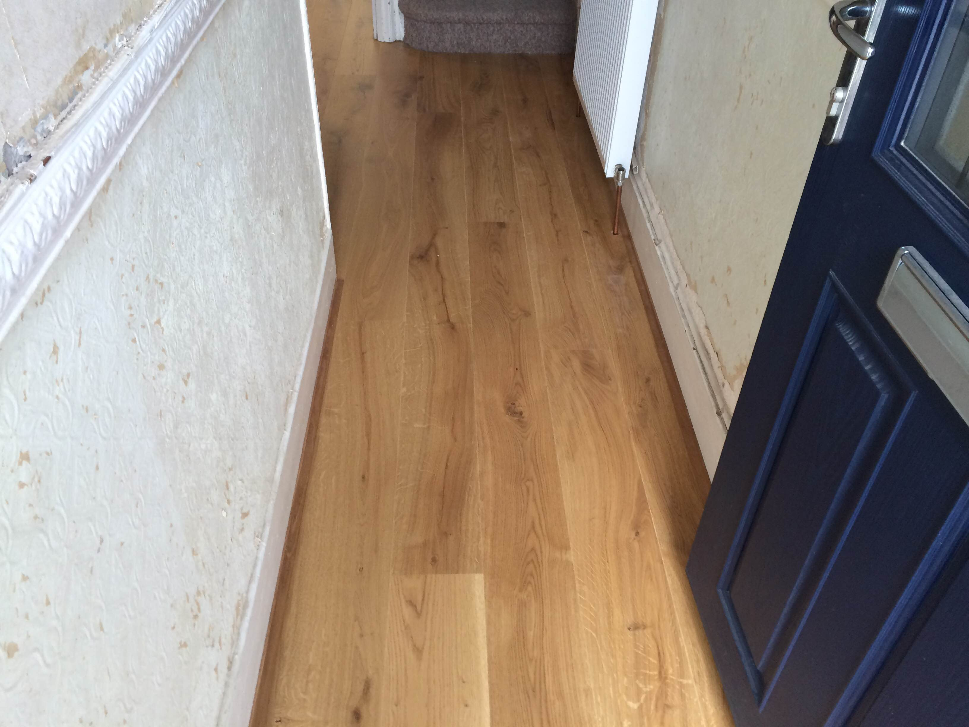 Long plank oak german engineered flooring brushed and for Click flooring