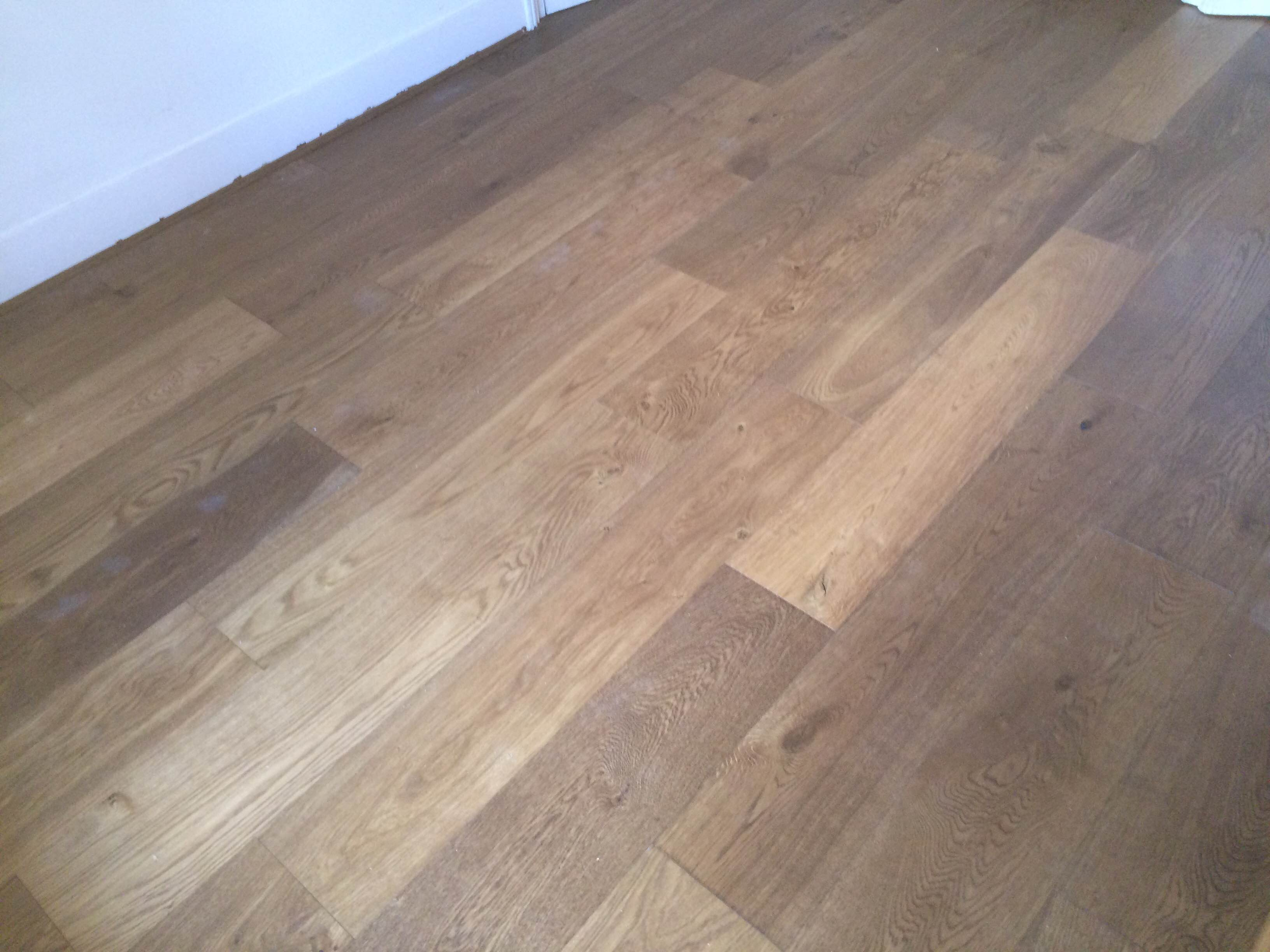 Extra rustic smoked engineered real wood floor click sytem for Engineered woods