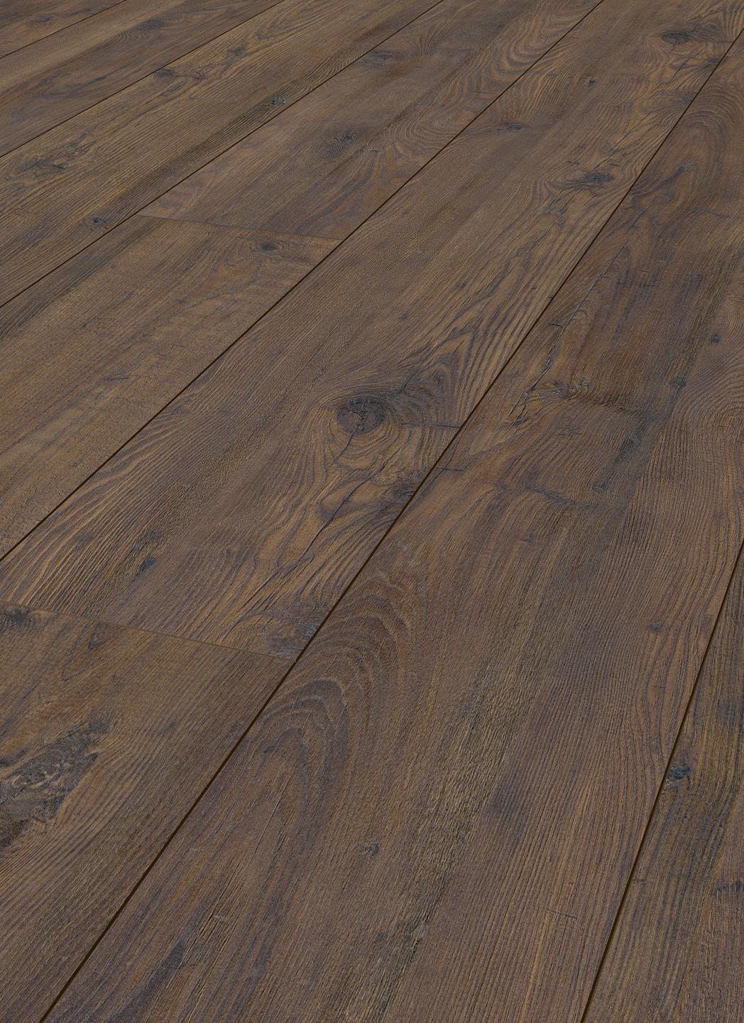 Laminate long boards chestnut chocolate brown london for Laminate flooring london