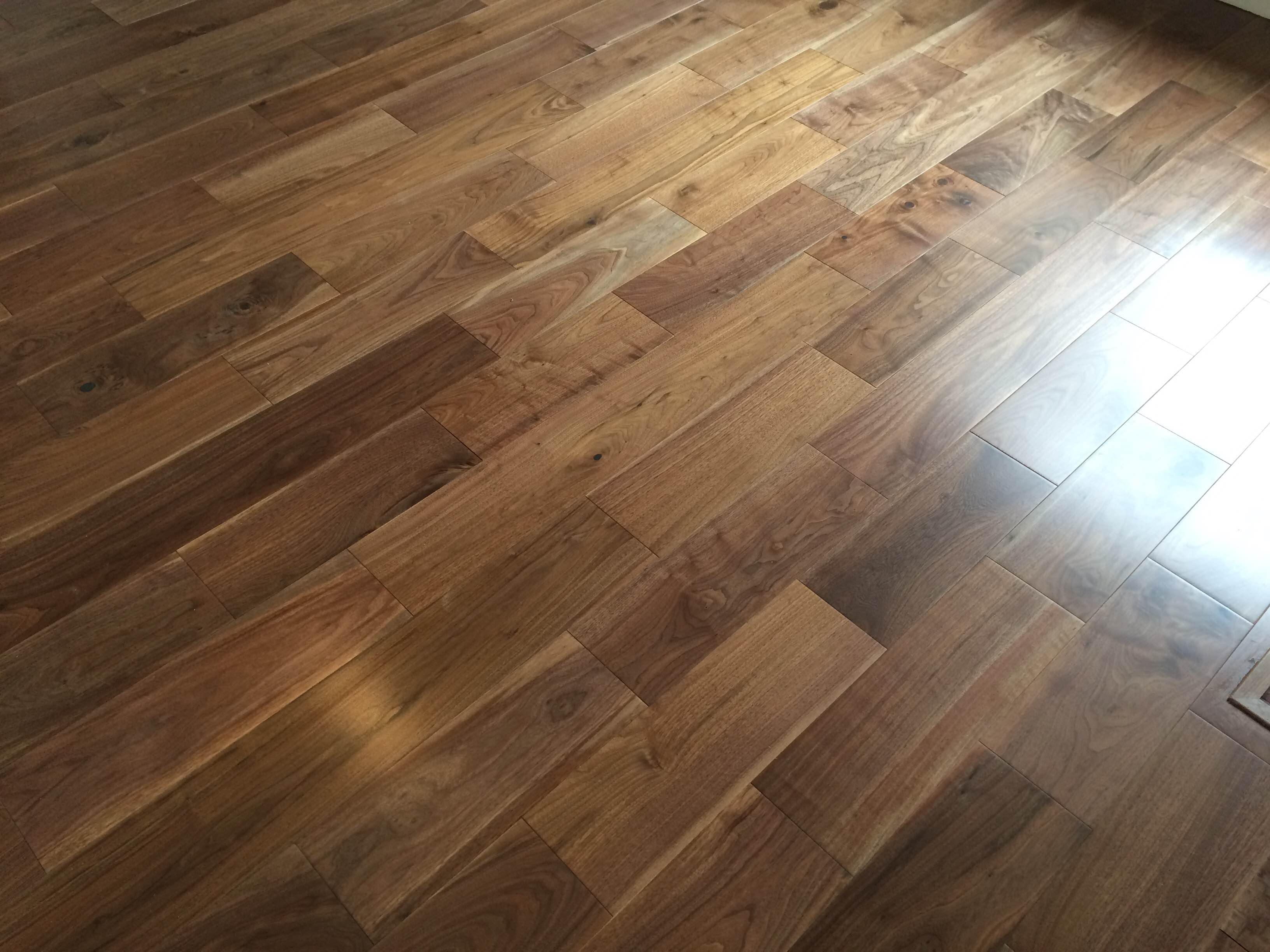 Black american walnut wood london stock super engineered for Floating hardwood floor