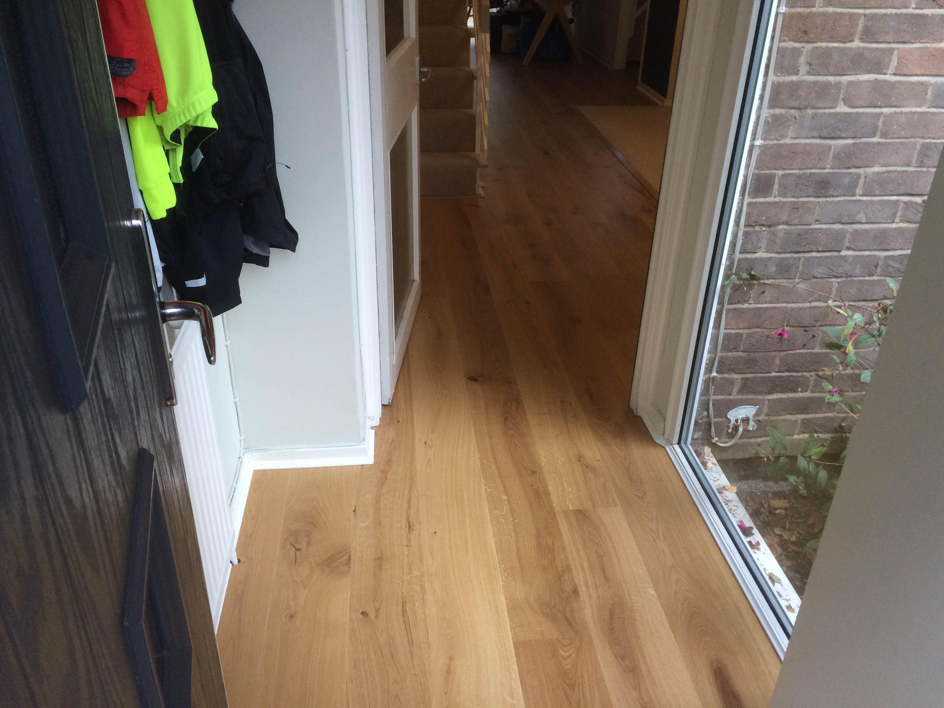 Long Plank Oak German Engineered Flooring Lacquered 180mm