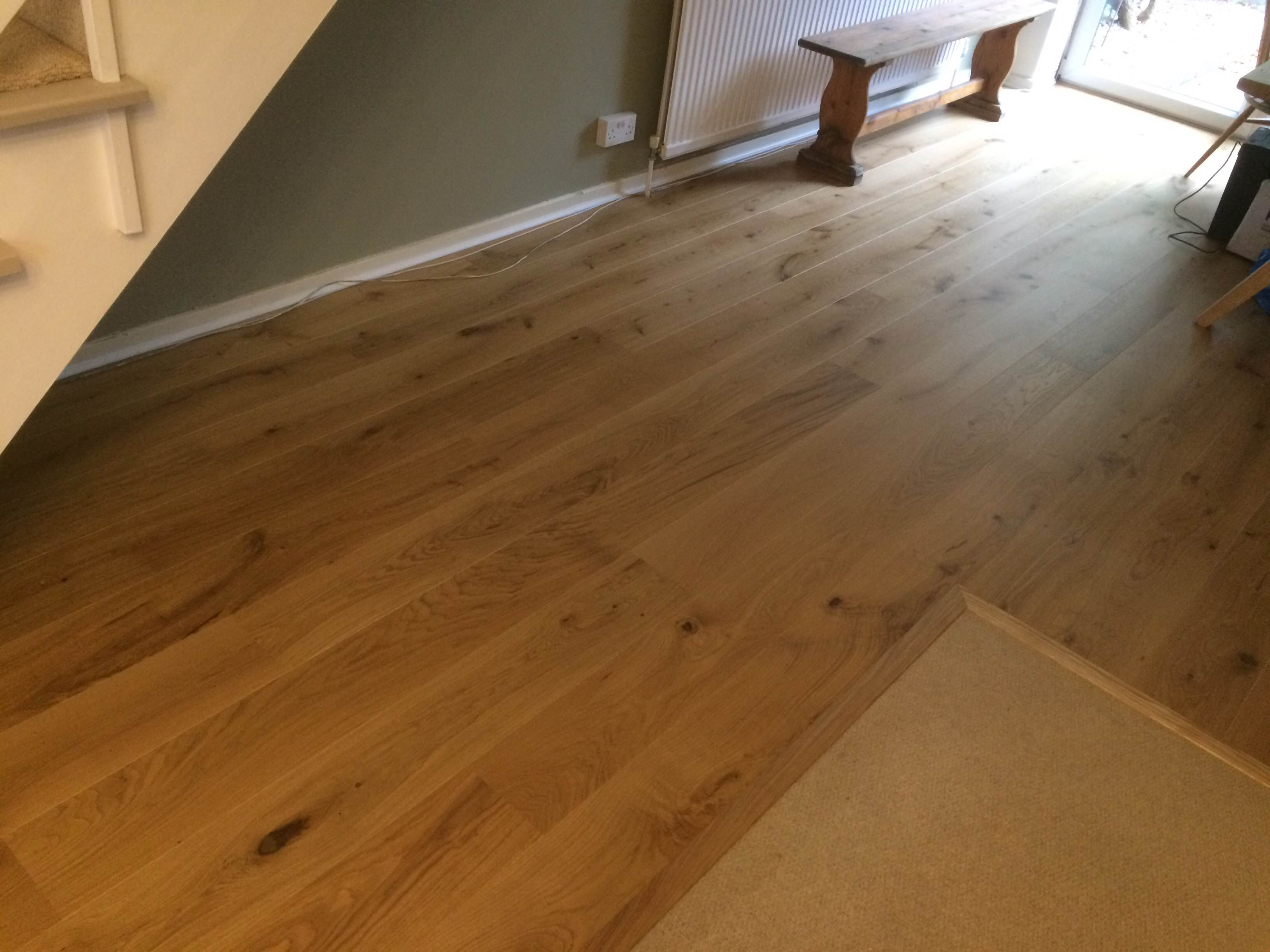 Long Plank Oak German Engineered Flooring Lacquered 180mm