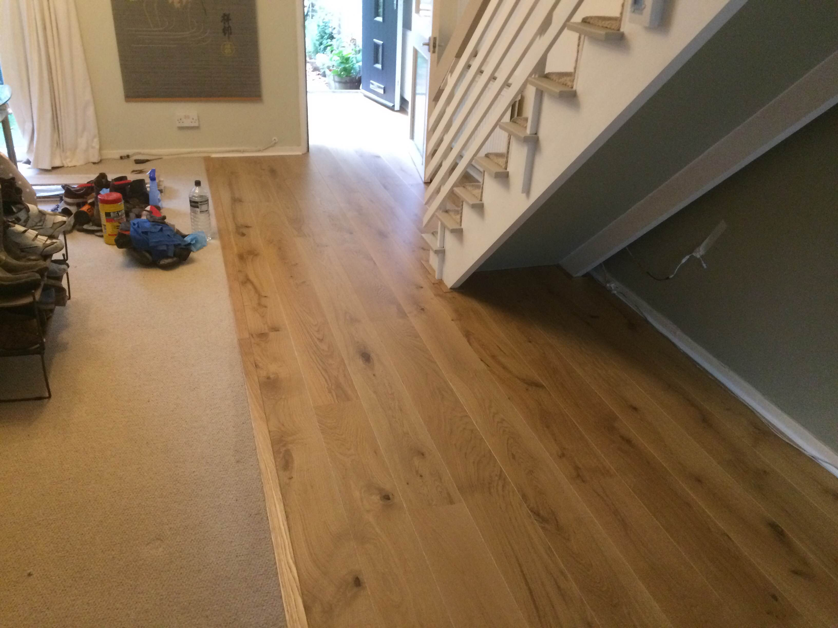 Long plank oak german engineered flooring lacquered mm