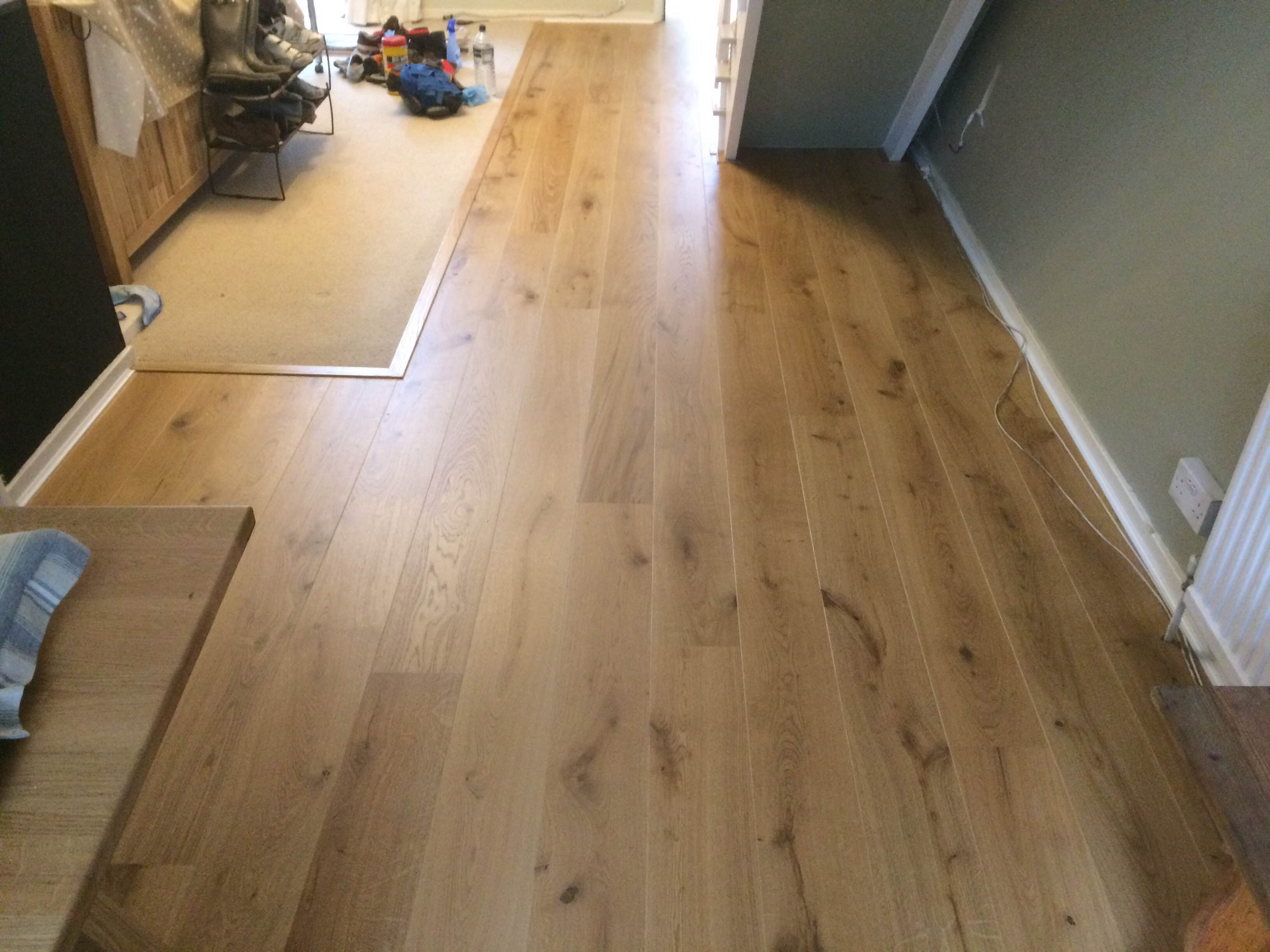 Long Plank Oak German Engineered Flooring Lacquered 180mm Patented