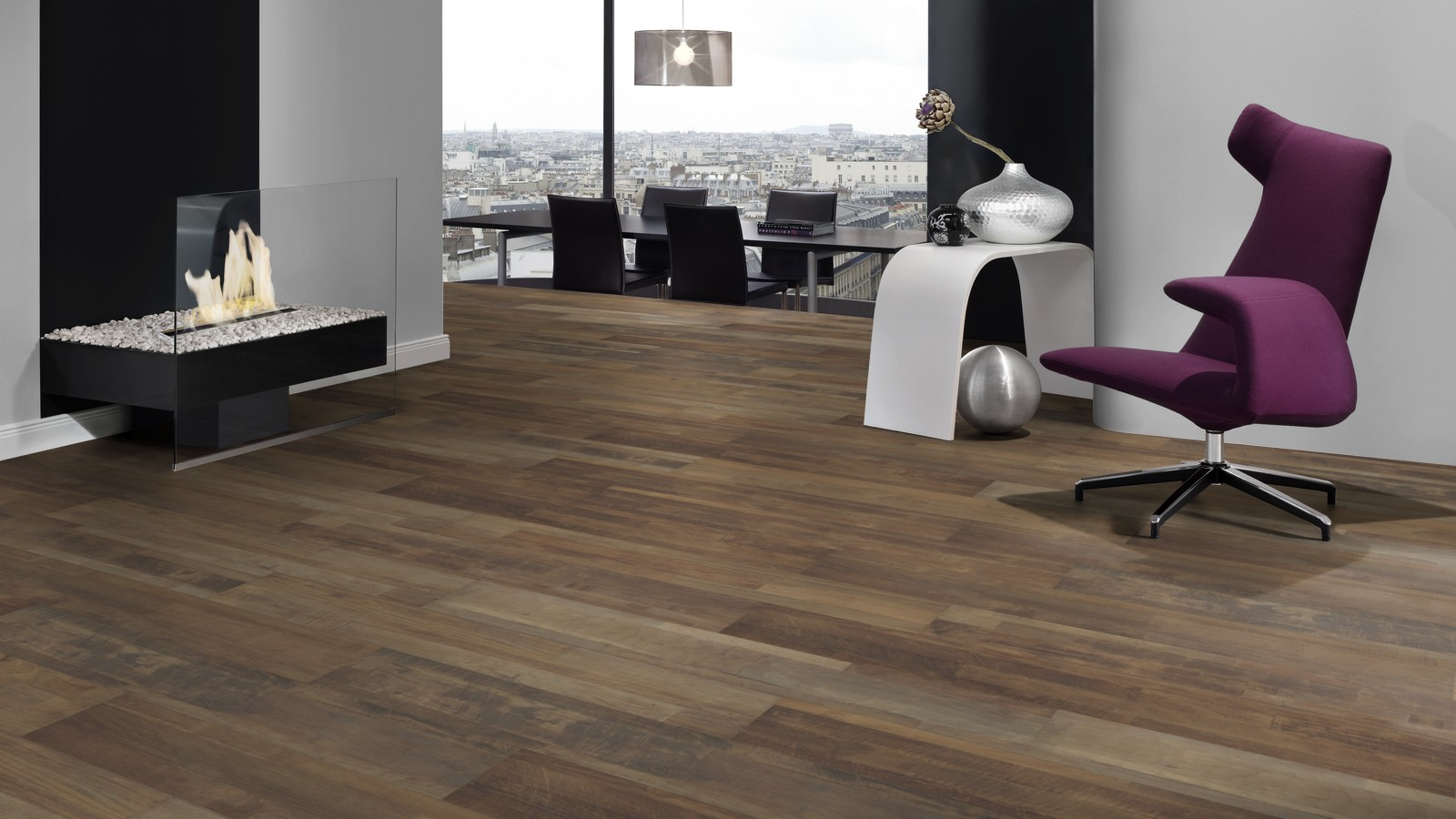 Avatara Old Wood Whisky Brown Man Made Wood Floor