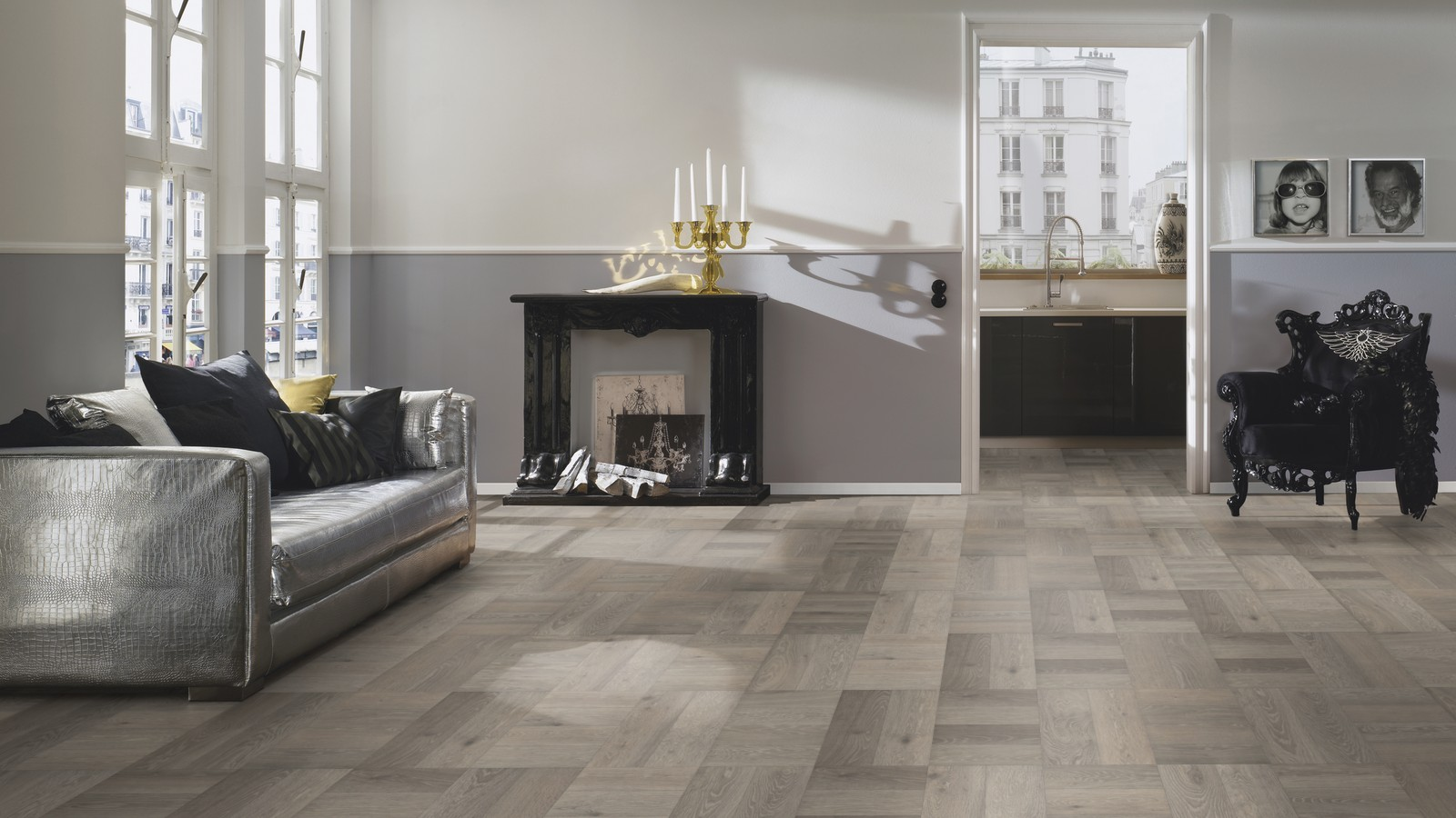 Avatara Oak Silver Grey Historic Man Made Wood Floor