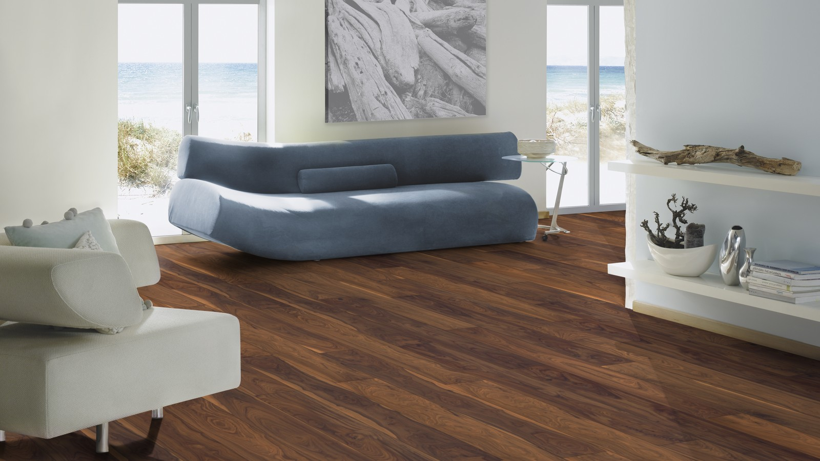 Black American Super Engineered Walnut Floor London Stock