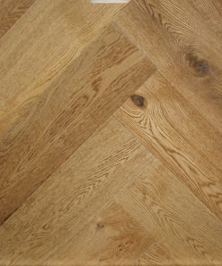 Toasted & sealed Engineered oak herringbone wood blocks