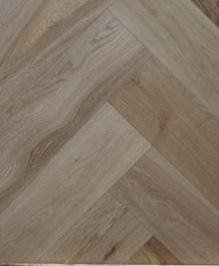 Natural brushed and sealed Engineered oak herringbone