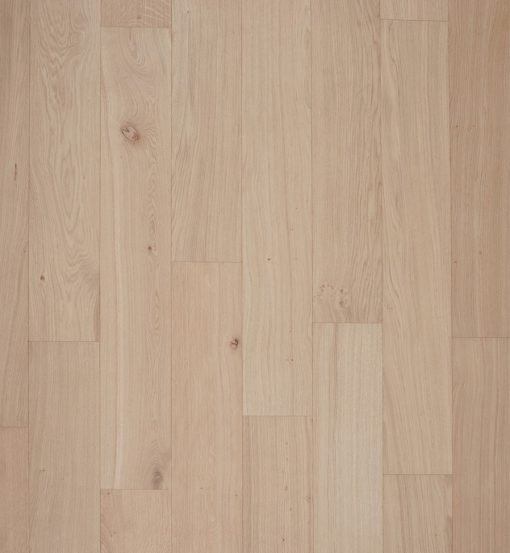 Raw oak flooring
