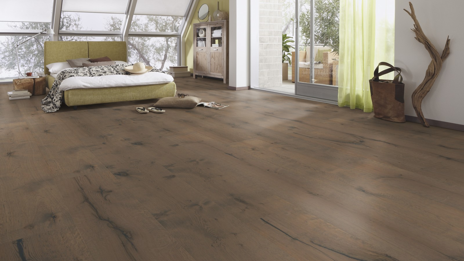 Clay grey rustic oak lindura real wood floor wood4floors for Award flooring