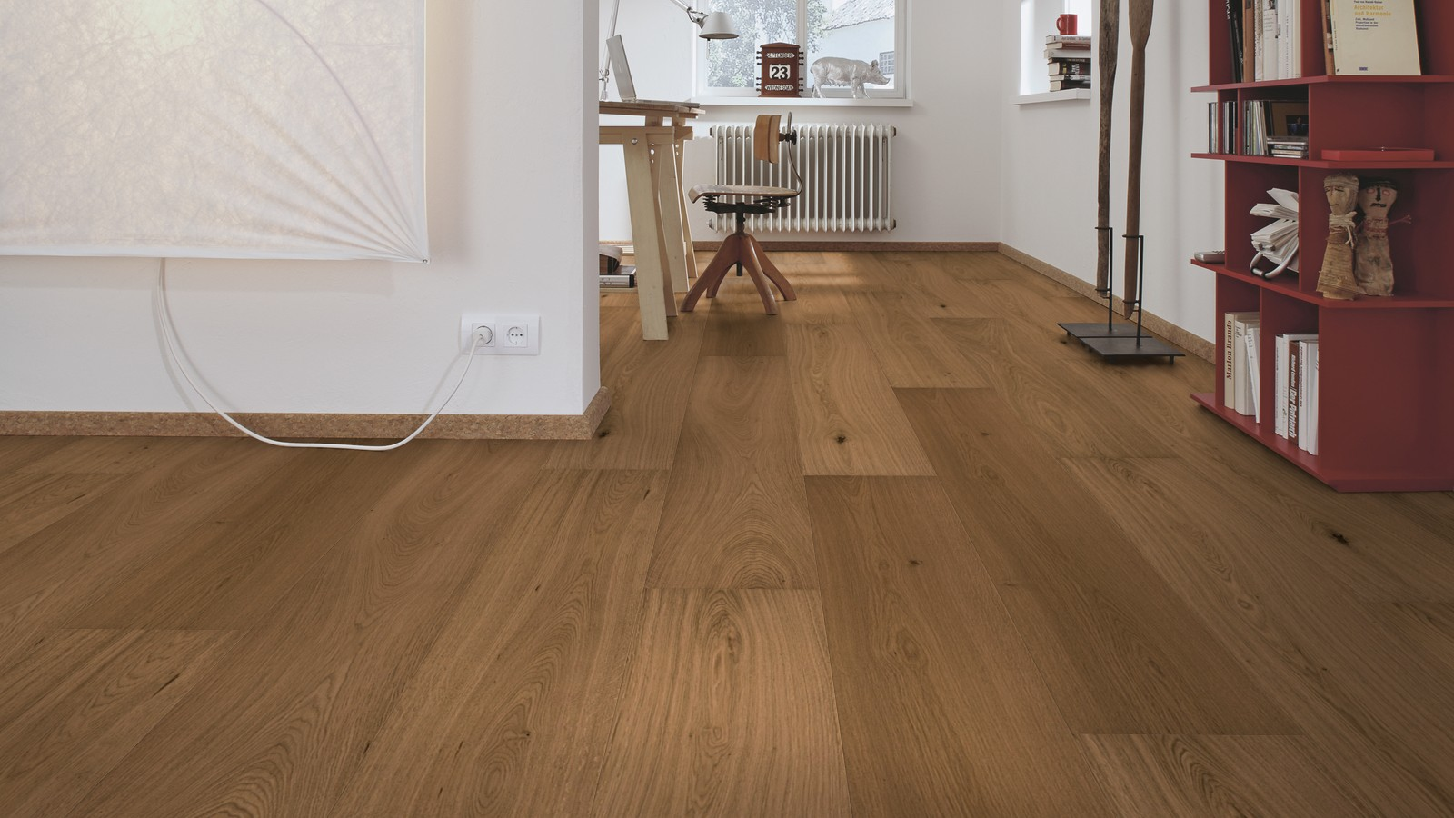 Natural Light Brown Oak Lindura Real Wood Floor Wood4floors
