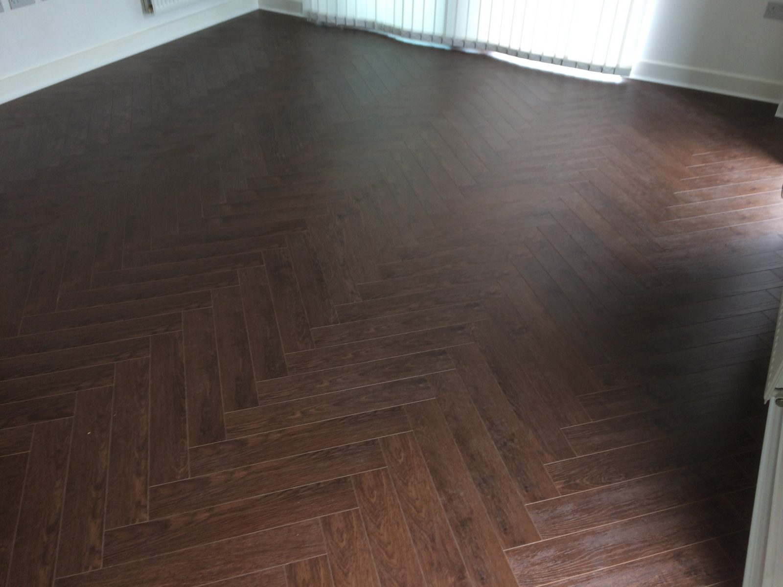 Laminated Walnut Herringbone Wood Blocks London Stock