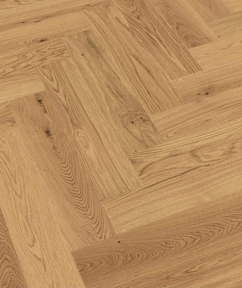 Herringbone engineered OAK wood blocks