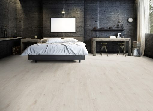 Luxury vinyl planks Skagen white oak LVF 100 bedroom wood4floors