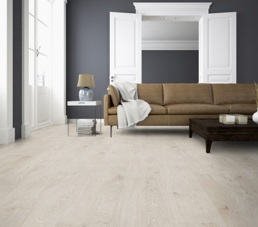 Luxury vinyl planks Skagen white oak LVF 100 front room wood4floors