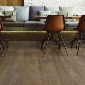 LVF1000 Luxury Vinyl Plank Oak Cambridge dark brown Wood4Floors