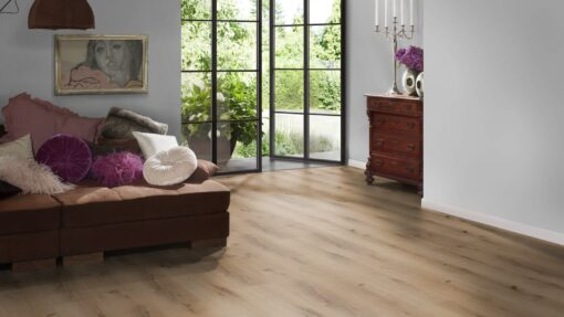 LVF750 Luxury Vinyl Plank Oak Bilbao Brown Wood4Floors