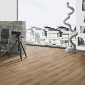 LVF750 Luxury Vinyl Plank Oak Bilbao Brown Wood4Floors