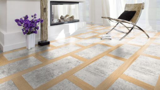 L6400 - Travertine Oak Villeroy & Boch London Premium Laminate Flooring - Wood4Floors