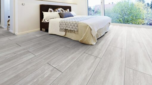 LA02a - ter Hürne Old Wood White Grey Laminate Tile - Bedroom