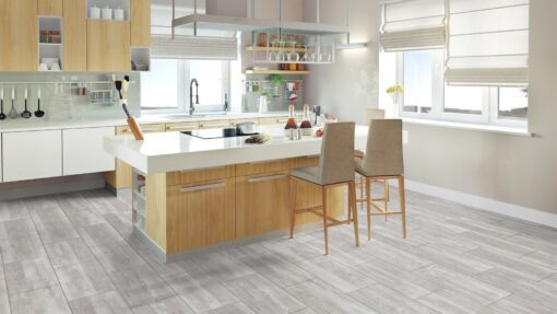 LA02a - ter Hürne Old Wood White Grey Laminate Tile - Kitchen