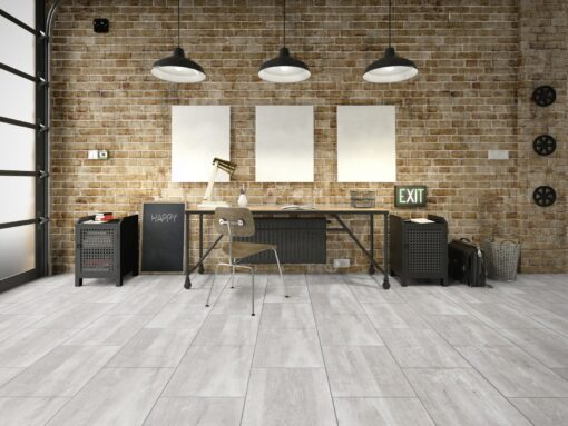 LA02a - ter Hürne Old Wood White Grey Laminate Tile - Living Room