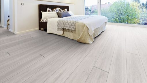 LA04 - ter Hürne Oak pastel white Laminate Long Plank - Bedroom
