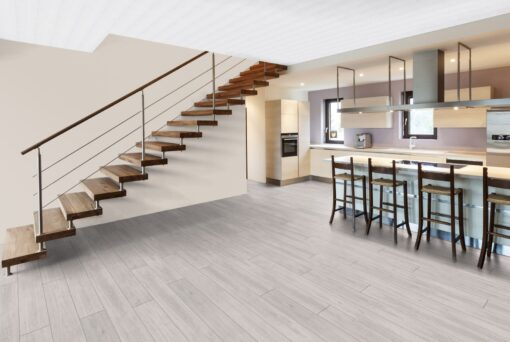 LA04 - ter Hürne Oak pastel white Laminate Long Plank - Kitchen