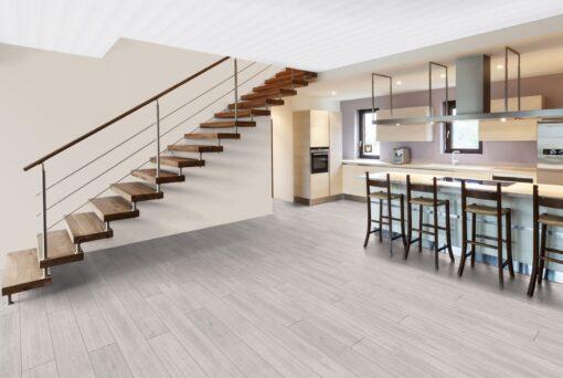 LA04 - ter Hürne Oak pastel white Laminate Long Plank - Kitchen