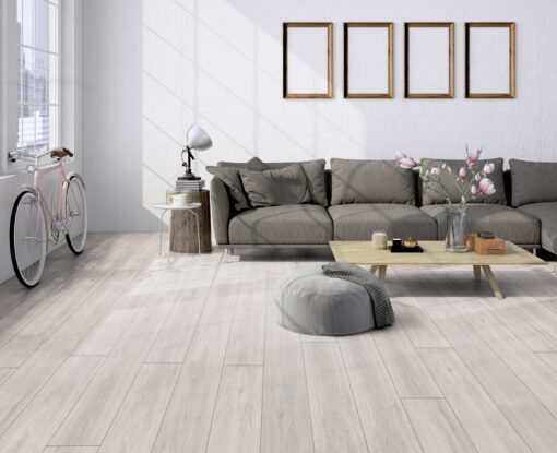 LA04 - ter Hürne Oak pastel white Laminate Long Plank - Living Room