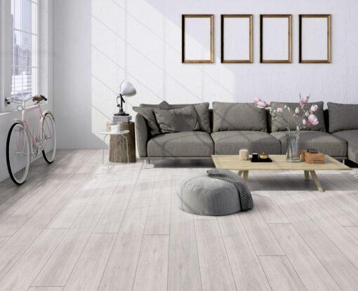 LA04 - ter Hürne Oak pastel white Laminate Long Plank - Living Room