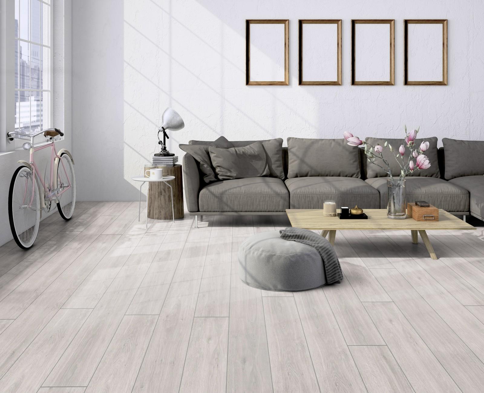White Laminate Flooring Living Room - LAMINATE FLOORING