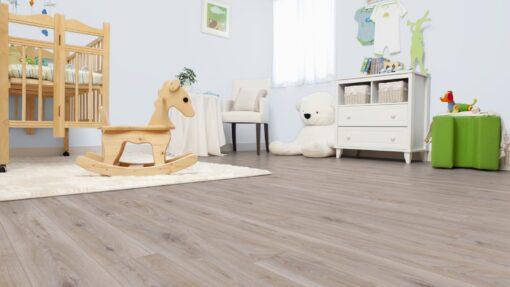 LA07 - ter Hürne Oak Light Grey Laminate Long Plank - Bedroom