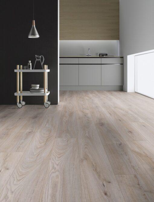 LA07 - ter Hürne Oak Light Grey Laminate Long Plank - Kitchen