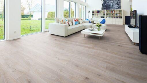 LA07 - ter Hürne Oak Light Grey Laminate Long Plank - Living Room
