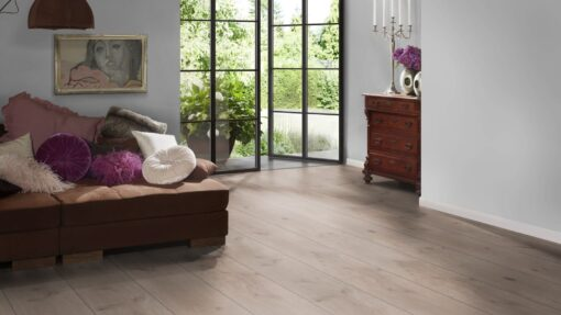 LA08 - ter Hürne Oak Ashford Grey Brown Laminate Extra-Wide Plank - Bedroom