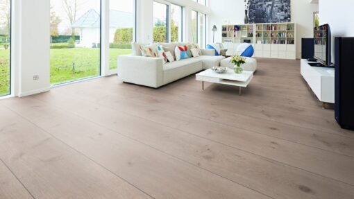 LA08 - ter Hürne Oak Ashford Grey Brown Laminate Extra-Wide Plank - Living Room